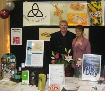 Bob and Kerrill at the Wedding Expo in Hamilton, last weekend.