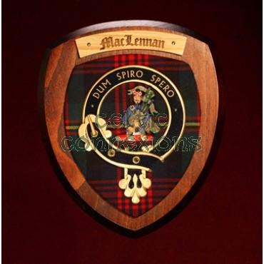 Clan Crests available to order, in a range of sizes and materials.
