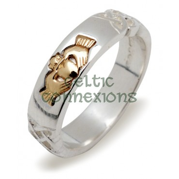 Claddagh Silver and Rose Gold with Celtic Knots