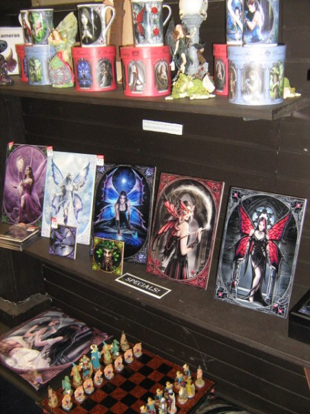 The shelves are filling up! New Anne Stokes shipment.
