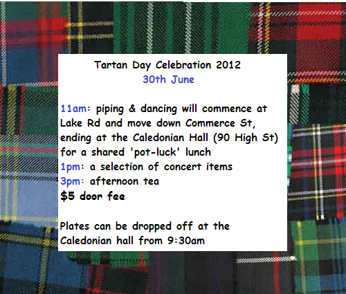 The Tartan Day Celebration is here again! How time passes by..